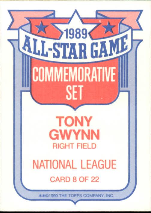 1990 Topps Glossy All-Stars #8 Tony Gwynn back image