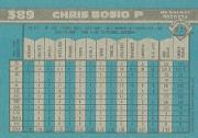 1990 Bowman #389 Chris Bosio back image