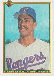 1990 Bowman #492 Juan Gonzalez RC