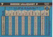 1990 Bowman Tiffany #7 Derek Lilliquist back image