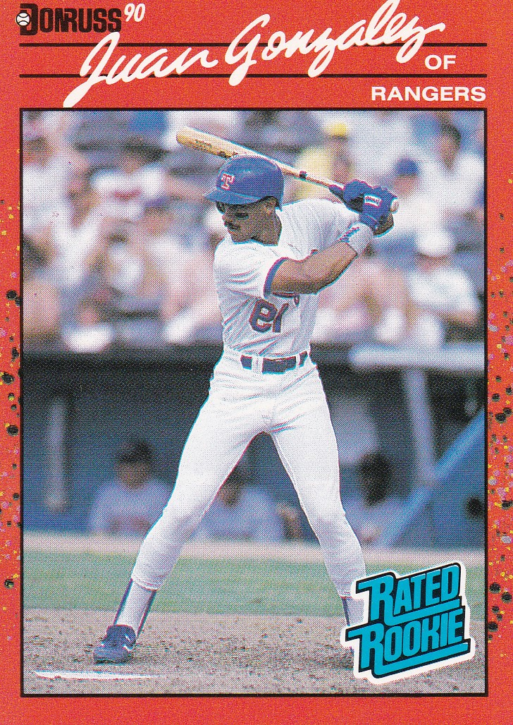 1990 Donruss #33A J.Gonzalez ERR RC/Reverse negative