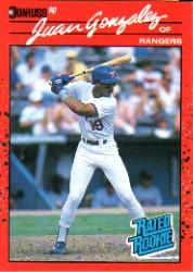 1990 Donruss #33B Juan Gonzalez COR RC
