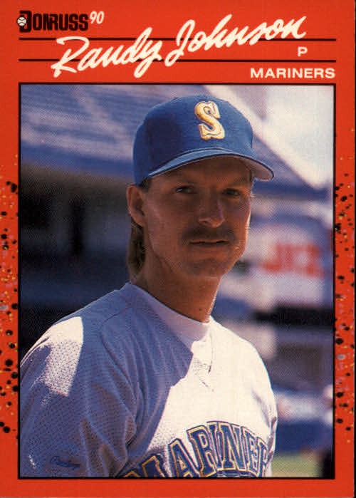 Details About 1990 Donruss 379 Randy Johnson Seattle Mariners
