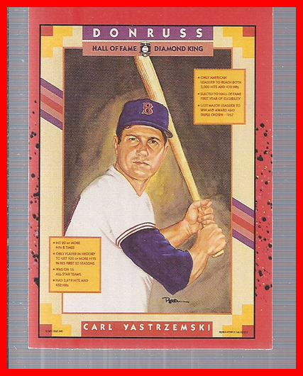 1990 Donruss #588 Carl Yastrzemski/Puzzle Card DP