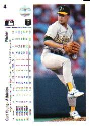 1990 Upper Deck #4 Curt Young back image