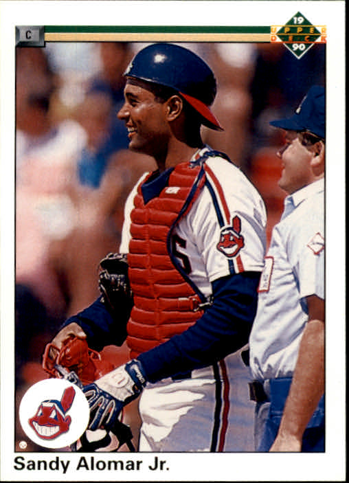 Details About 1990 Upper Deck Baseball Card 756 Sandy Alomar Jr