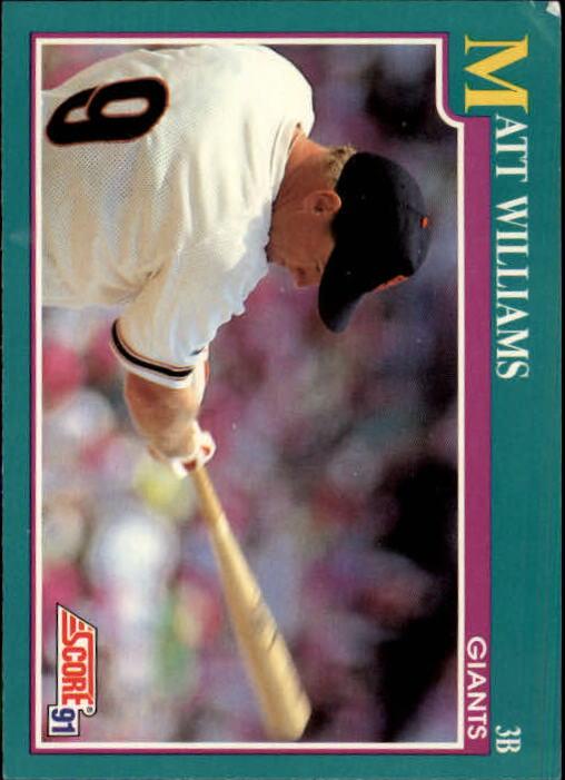 1991 Score #189 Matt Williams