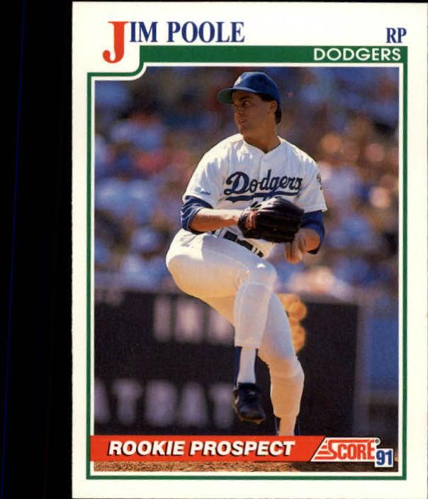 1991 Score #357 Jim Poole