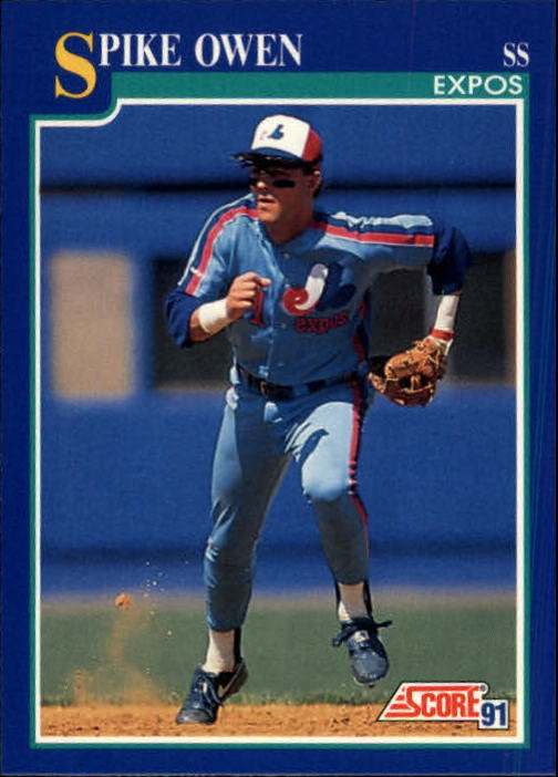 1991 Score #452 Spike Owen