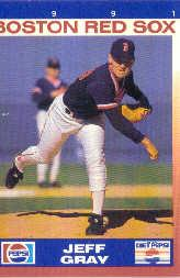 1991 Red Sox Pepsi #7 Jeff Gray