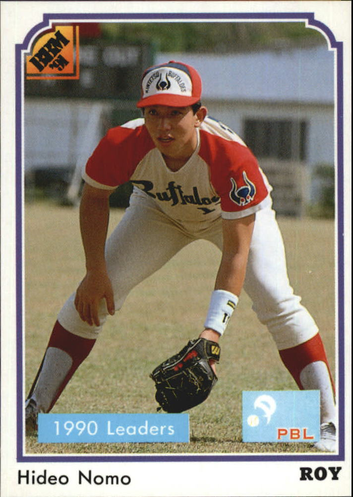 1991 BBM Japan #205 Hideo Nomo LL/(Crouching position&/glove near gr
