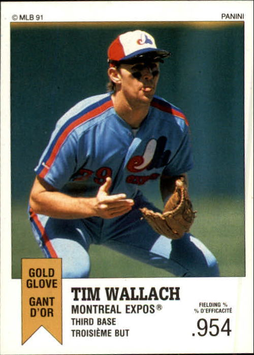 1991 Panini Canadian Top 15 #102 Tim Wallach