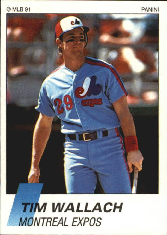 1991 Panini French Stickers #141 Tim Wallach