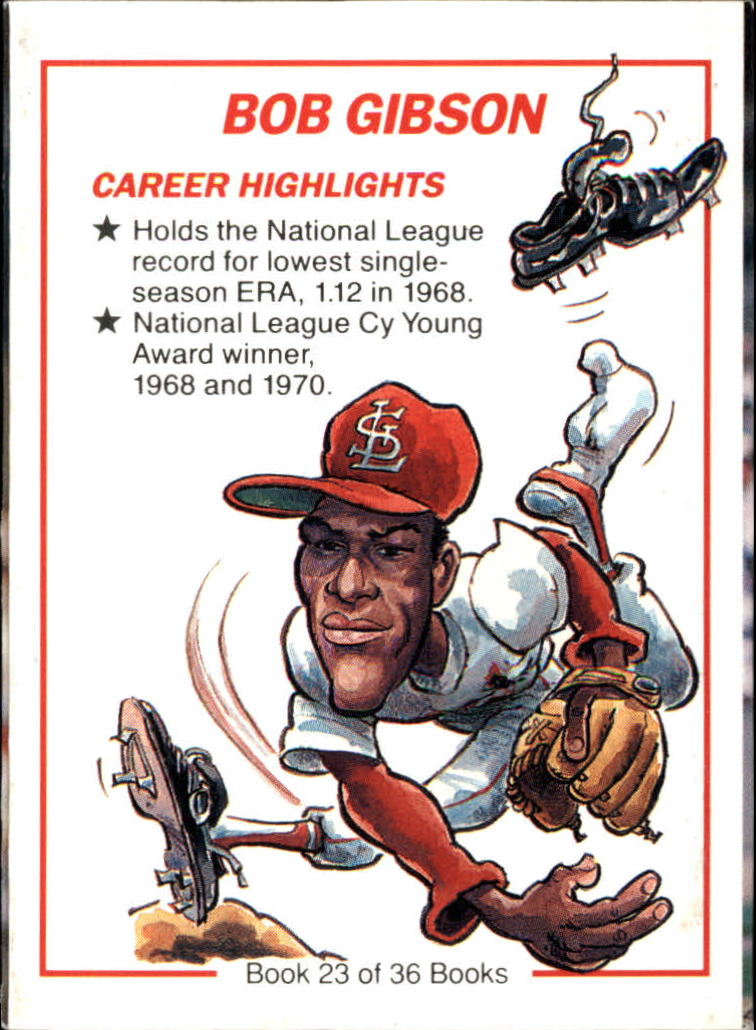 1991 Collect-A-Books #23 Bob Gibson back image