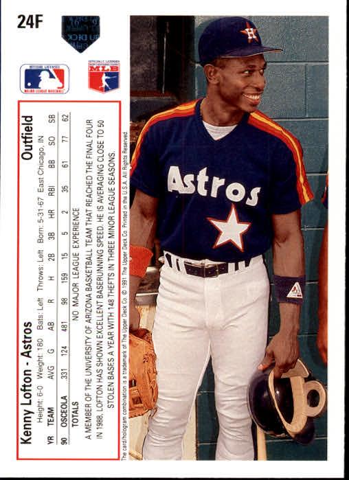 1991 Upper Deck Final Edition #24F Kenny Lofton RC back image
