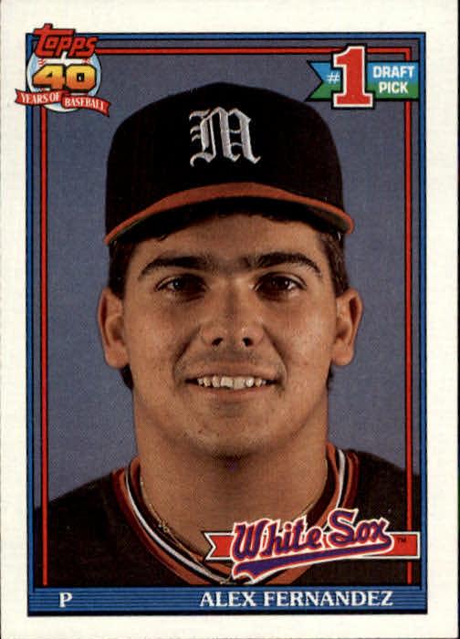 1991 Topps #278 Alex Fernandez UER/No '90 White Sox stats