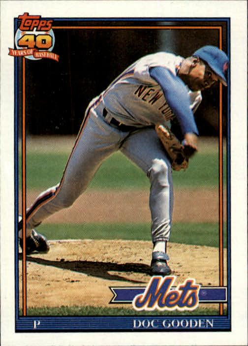 1991 Topps #330 Dwight Gooden