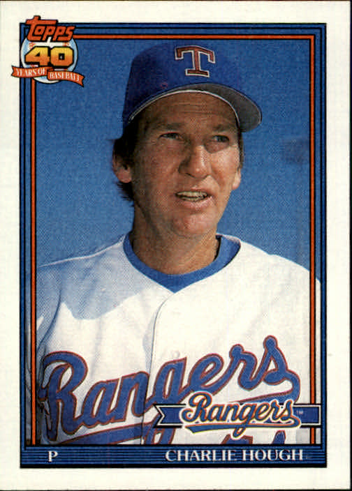 1991 Topps #495 Charlie Hough