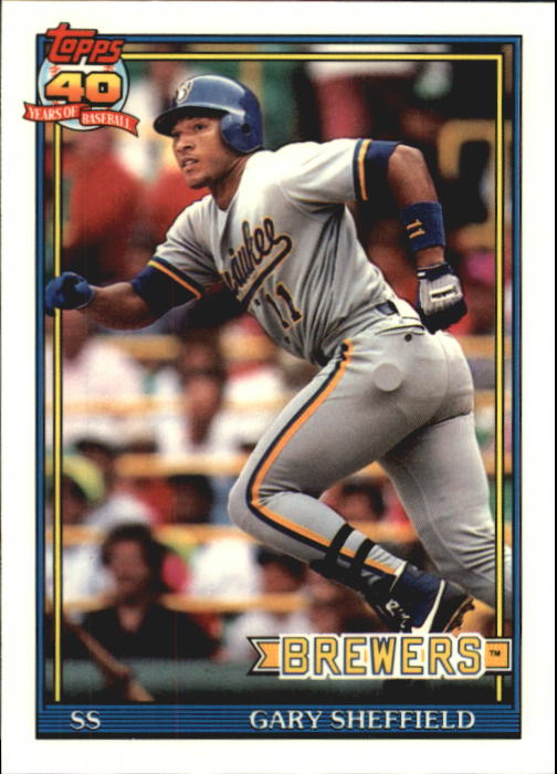 1991 Topps Tiffany #68 Gary Sheffield