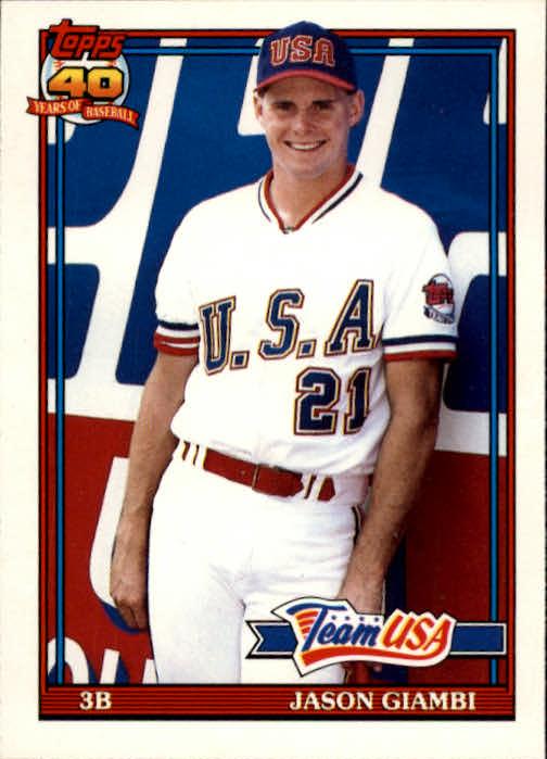 1991 Topps Traded #45T Jason Giambi USA RC