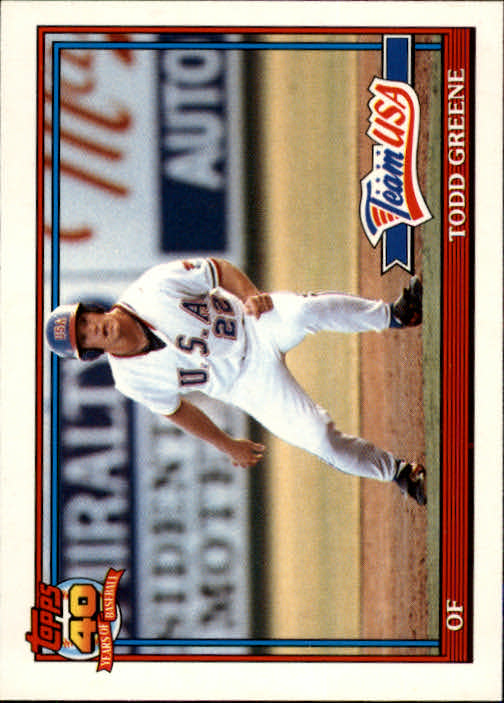 1991 Topps Traded #50T Todd Greene USA RC
