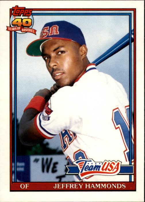 1991 Topps Traded #51T Jeffrey Hammonds USA RC