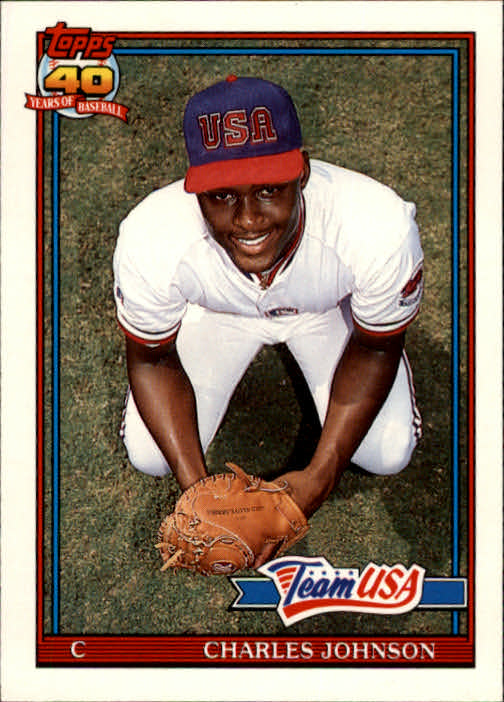 1991 Topps Traded #61T Charles Johnson USA RC
