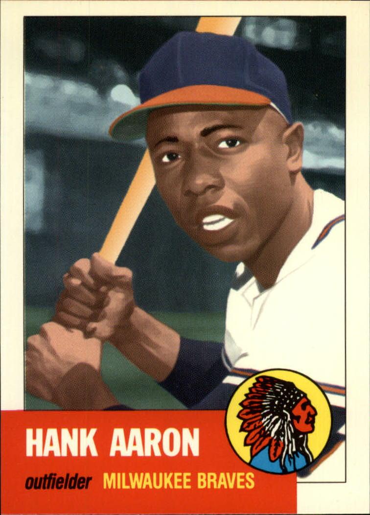 1991 Topps Archives 1953 #317 Hank Aaron