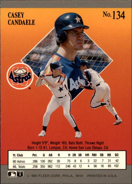 1991 Ultra #134 Casey Candaele back image