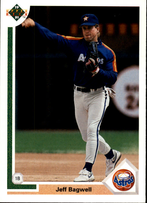 1991 Upper Deck #755 Jeff Bagwell UER RC/Strikeout and walk/totals reversed