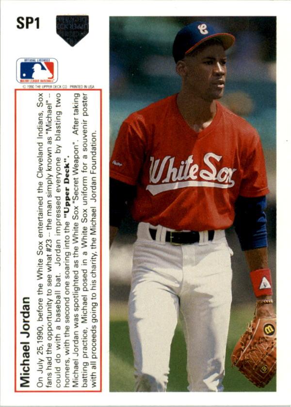 1991 Upper Deck Sp1 Michael Jordan Spshown Batting Inwhite Sox