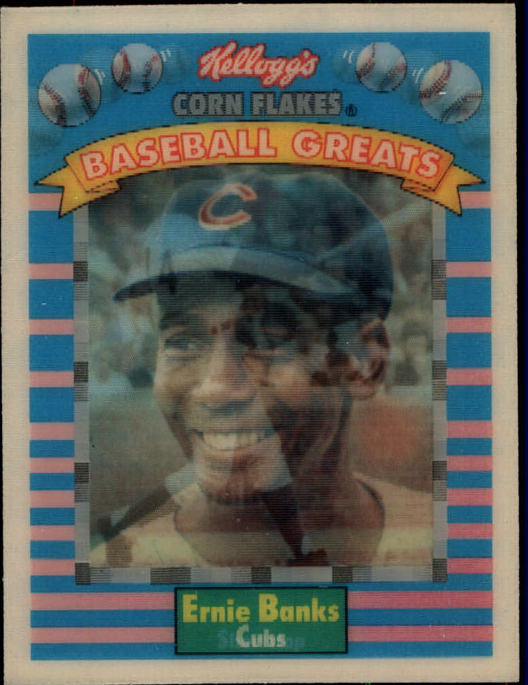 1991 Kellogg's 3D #4 Ernie Banks