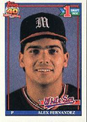 1991 O-Pee-Chee #278 Alex Fernandez UER/No '90 White Sox stats