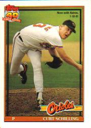 1991 O-Pee-Chee #569 Curt Schilling/Now with Astros/1/10/91