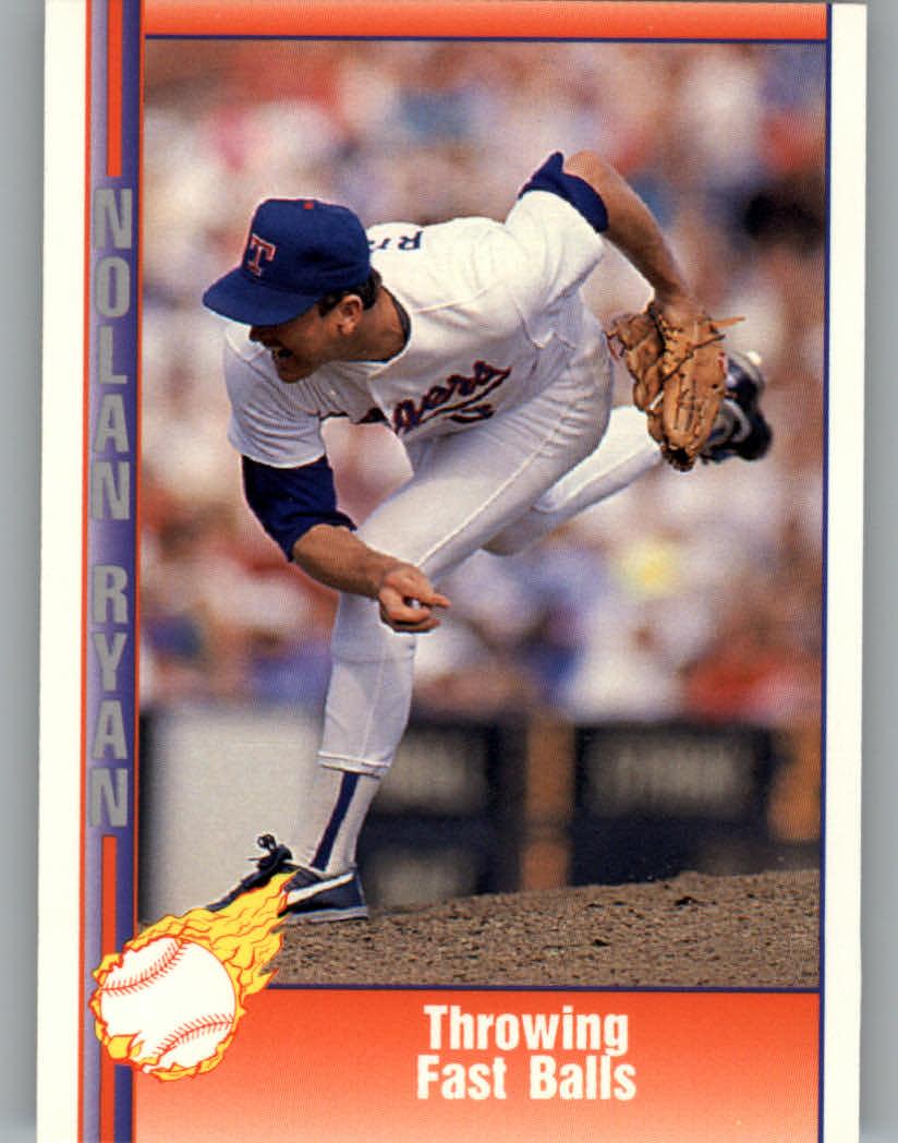 1991 Pacific Ryan Texas Express I #21 Nolan Ryan/Throwing Fast Balls