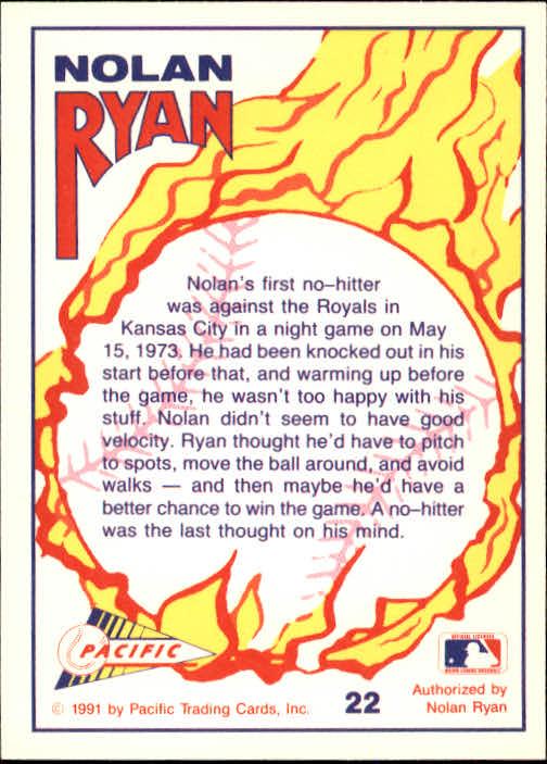 1991 Pacific Ryan Texas Express I #22 Nolan Ryan/Move the Ball Around back image