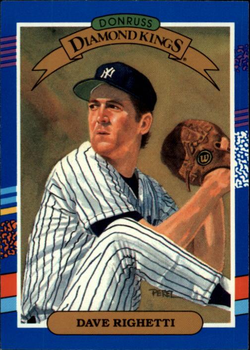 1991 Donruss #21 Dave Righetti DK