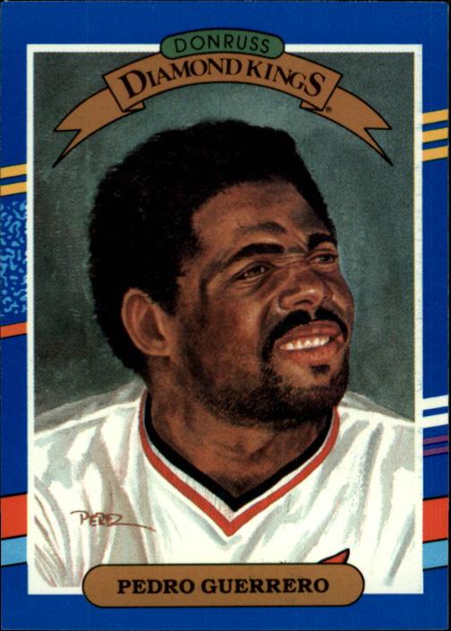 1991 Donruss #25 Pedro Guerrero DK UER/No trademark on/team logo on back