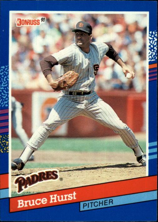 1991 Donruss #83 Bruce Hurst UER/Middle name is/Lee, not Vee