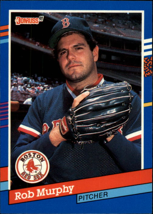 1991 Donruss #250 Rob Murphy UER/Shown as on Reds/in '89 in stats,/should be Red Sox