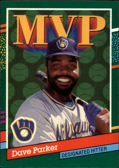 1991 Donruss #390 Dave Parker MVP