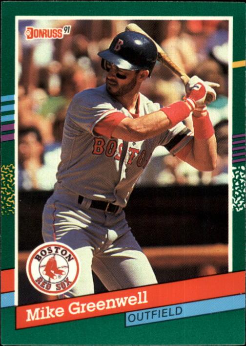 1991 Donruss #553 Mike Greenwell