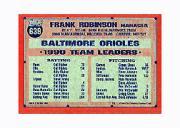 1991 Topps Micro #639 Frank Robinson MG back image