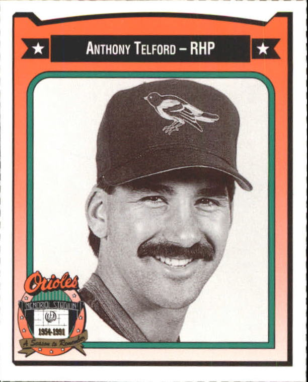 1991 Orioles Crown #452 Anthony Telford