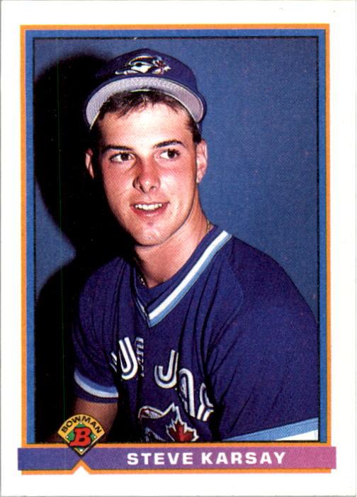 1991 Bowman #12 Steve Karsay RC