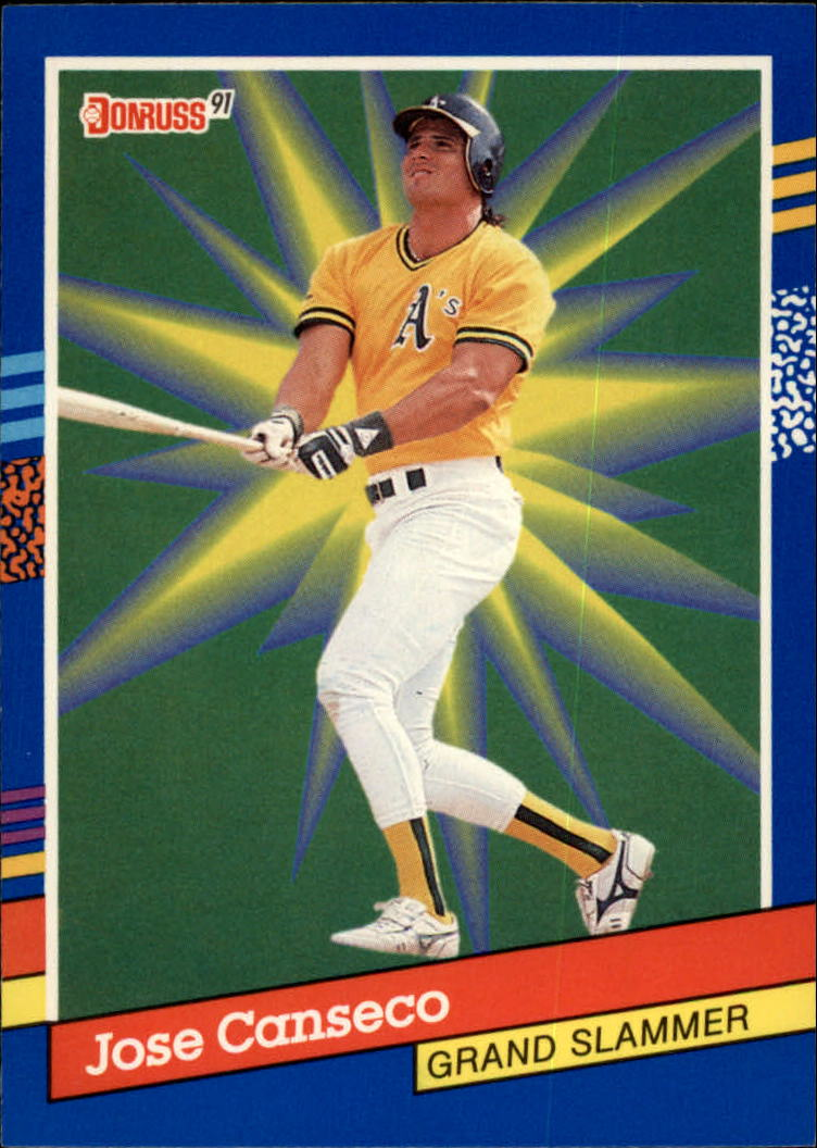 1991 Donruss Grand Slammers 4 Jose Canseco From Factory