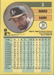 1991 Fleer #2 Harold Baines back image