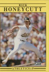 1991 Fleer #11 Rick Honeycutt