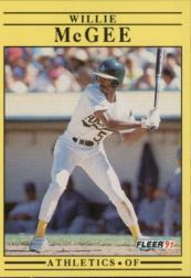 1991 Fleer #16 Willie McGee UER/Height 6'11