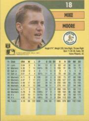1991 Fleer #18 Mike Moore back image